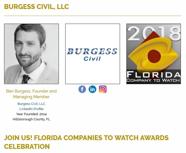 Burgess Civil Florida Companies to Watch 2019